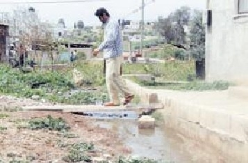 "Wastewater Flow from ""Merav"" & ""Ma'ali Jalbua'"" Settlements Turn Jalboun Village to Epidemic Area"